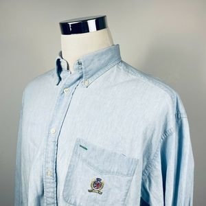 Tommy Hilfiger Mens Large Vintage Chambray Shirt